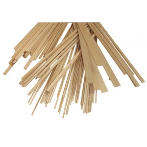 "Alvin® Bass Wood Strips 1/8 x 3/4; Format: Strip; Quantity: 50 Strips; Size: 1/8"" x 3/4""; Thickness: 24""; (model WS1834), price per 50 Strips"
