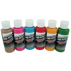 Createx™ Airbrush Tropical 6-Color Set; Color: Multi; Format: Bottle; Size: 2 oz; Type: Airbrush; (model 5810-00), price per set