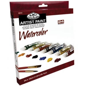 Royal & Langnickel® 12ml Watercolor Paint 24-Color Set: Multi, Tube, 12 ml, Watercolor, (model RWAT24), price per set