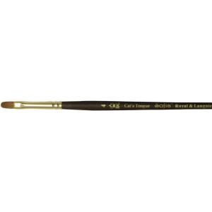 Royal & Langnickel® Sofia Kolinsky Sable/Synthetic Blend Watercolor and Acrylic Brush Cats Tongue 6: Best, Short Handle, Synthetic/Sable, Cat's Tongue, Acrylic, Watercolor, (model R5555CT-6), price per each