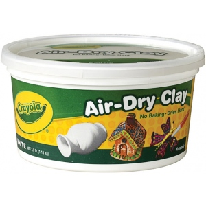 Crayola® Air-Dry Clay 2.5lb White; Color: White/Ivory; Quantity: 2 1/2 lb; Size: 2.5 lb; Type: Air Dry, Craft; (model 57-5050), price per each