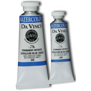 Da Vinci Artists' Watercolor Paint 15ml Cerulean Blue Hue: Blue, Tube, 15 ml, Watercolor, (model DAV230F), price per tube