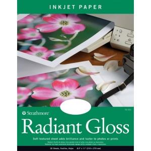 """Strathmore® 8.5"""" x 11"""" Radiant Gloss Inkjet Paper: White/Ivory, 20 Sheets, 8 1/2"""" x 11"""", Radiant Gloss, 69 lb, (model ST59-530), price per 20 Sheets"""