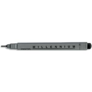Zig®  Memory System® Millennium™ Pen .08 Black: Black/Gray, Pigment, .08mm, Fine Nib, (model MS08/10), price per each
