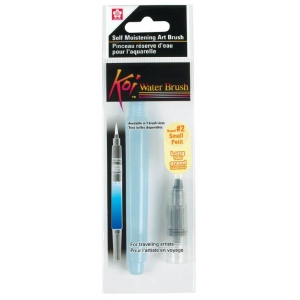 Koi™ Water Brushes; Material: Nylon; Shape: Round; (model 39121), price per each