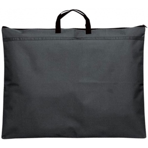 "Prestige™ Student™ Series Black Soft-Sided Portfolio 20"" x 26""; Color: Black/Gray; Gusset Size: 1/2""; Material: Nylon; Size: 20"" x 26""; (model N2026), price per each"