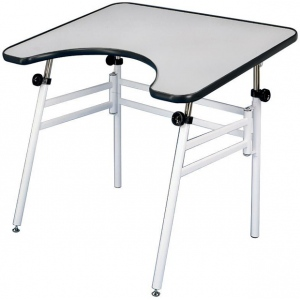 """Alvin® Reflex Table; Angle Adjustment Range: 0 - 45; Base Color: White/Ivory; Base Material: Steel; Height Range: 24"""" - 44""""; Top Color: White/Ivory; Top Material: Melamine; Top Size: 30"""" x 40""""; (model REFLEX), price per each"""
