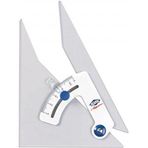 "Alvin® Tru-Angle™ 10"" Adjustable Triangle: Adjustable, Clear, Acrylic, 10"", Triangle, (model 110C), price per each"