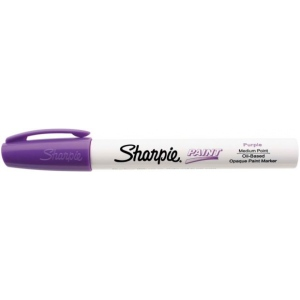 Sharpie® Oil Paint Marker Medium Purple: Purple, Paint, Medium Nib, (model SN35556), price per each