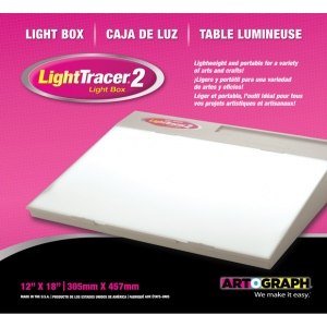 "Artograph® Lightracer™ II 12"" x 18"" Light Box; Material: Acrylic; Size: 12"" x 18""; Wattage: 8-25w; (model 225-375), price per each"