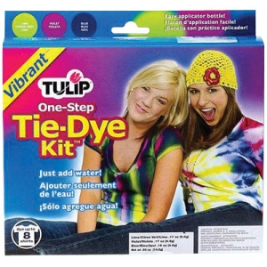 Tulip® One-Step Dye™ Vibrant Tie-Dye Kit for 8 Shirts; Capacity: 8 Shirts; Color: Multi; Format: Bottle; Ink Type: Tie Dye; (model D22675), price per kit