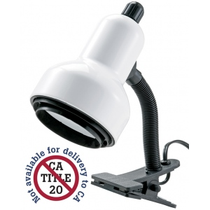 "Alvin® Clip Light White; Color: White/Ivory; Shade Size: Under 10""; Type: Clip; Wattage: 26-75w; (model CLC400-D), price per each"