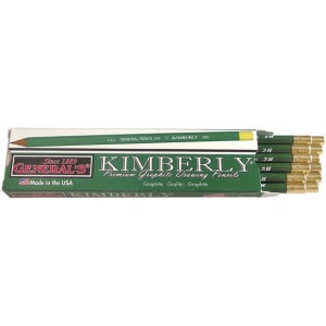 Kimberly® Drawing Pencil 2H; Color: Black/Gray; Degree: 2H; Type: Drawing; (model 525G-2H), price per dozen (12-pack)