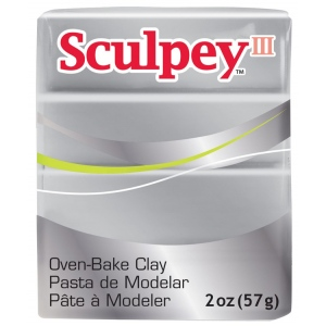 Sculpey® III Polymer Clay Silver; Color: Metallic; Format: Bar; Material: Polymer; Size: 2 oz; (model S3021130), price per each