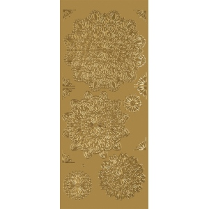 "Blue Hills Studio™ DesignLines™ Outline Stickers Gold #25; Color: Metallic; Size: 4"" x 9""; Type: Outline; (model BHS-DL025), price per pack"