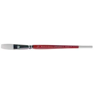"Winsor & Newton™ University Series 680 One Stroke Short Handle Brush 1/2"": Short Handle, Nylon, One Stroke, Acrylic, Oil, Watercolor, (model WN5460113), price per each"