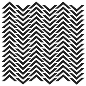 "The Crafter's Workshop 6"" x 6"" Design Template Chevron: 6"" x 6"", Patterned Stencil, (model TCW227S), price per each"