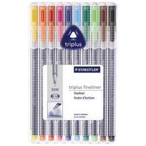 Staedtler® Triplus® Fineliner Pen 10-Color Set: Multi, Dye-Based, .3mm, Fine Nib, (model 334SB10), price per set