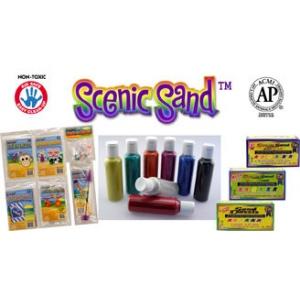 Scenic Sand Assortment: Vivid, 8 oz., 6 Colors