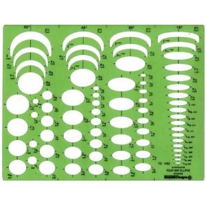 "Pickett® Four-In-One Ellipse Template; Scale: 5/16"" - 2 1/4""; (model 1262I), price per each"