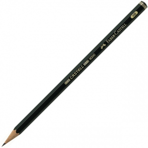 Faber-Castell Castell 9000 Graphite Pencil: F