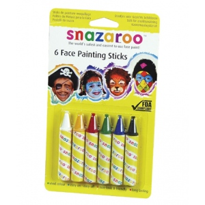 Snazaroo™ Face Painting 6-Stick Primary Set; Color: Multi; Format: Stick; (model 1160600), price per set