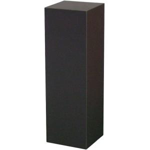 """Black Laminate Pedestal: 12"""" x 12"""" Base, 24"""" Height"""