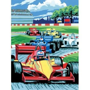 "Royal & Langnickel® Painting by Numbers™ 8 3/4 x 11 3/8 Junior Small Set Grand Prix; Board Size: 8 3/4"" x 11 3/8""; (model PJS12), price per set"