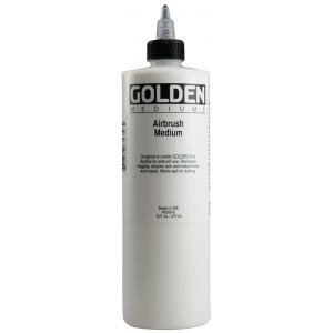 Golden® Airbrush Medium 16 oz.: 16 oz, 473 ml, Airbrush, (model 0003535-6), price per each