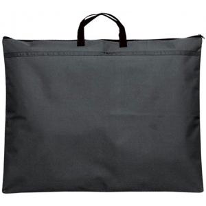 "Prestige™ Student™ Series Black Soft-Sided Portfolio 23"" x 31""; Color: Black/Gray; Gusset Size: 1/2""; Material: Nylon; Size: 23"" x 31""; (model N2331), price per each"