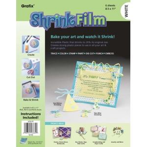 "Grafix® 8 1/2"" x 11"" White Shrink Film: White/Ivory, Sheet, 8 1/2"" x 11"", Film, (model KSF6-W), price per pack"