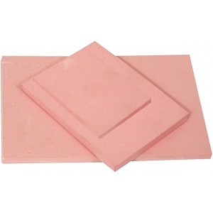 "Speedball® Speedy-Stamp™ 4"" x 6"" Carving Block: Red/Pink, Rubber, No, 4"" x 6"", 1/4"", Block, (model S4108), price per each"