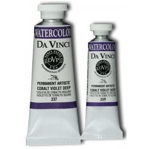 Da Vinci Artists' Watercolor Paint 37ml Cobalt Viol Deep; Color: Purple; Format: Tube; Size: 37 ml; Type: Watercolor; (model DAV237), price per tube