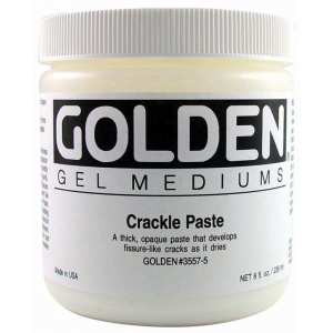 Golden Crackle Paste: 16 oz. (473ml)