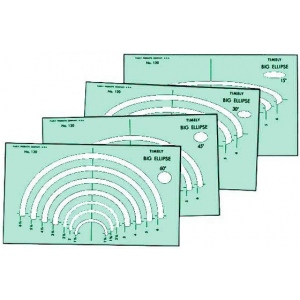 "Timely® Big Ellipse Templates: 4-Pack, 1 1/4"" - 6 1/2"", (model 120T), price per set"