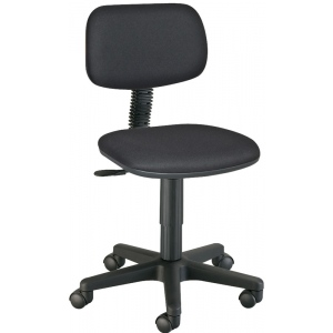 "Alvin® Varsity Task Chair; Arm Rest Included: No; Color: Black/Gray; Foot Ring Included: No; Height Range: Under 24""; Seat Material: Fabric; (model CH112), price per each"