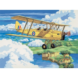 "Royal & Langnickel® Painting by Numbers™ 12 3/4 x 15 3/4 Adult Set Nostal Plane; Board Size: 12 3/4"" x 15 3/4""; (model PAL4), price per set"