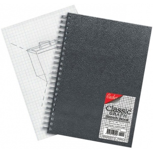"Cachet® 5 x 7 Classic Graph Sketch Book: Wire Bound, Book, 4"" x 4"", 80 Sheets, 5"" x 7"", 70 lb, (model CGW1061), price per each"