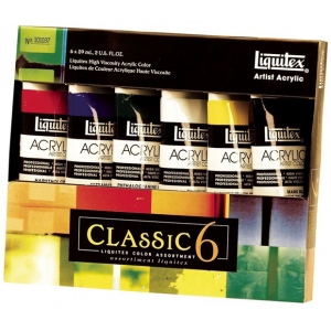 Liquitex® Professional Series Heavy Body 6-Color Classic Set; Color: Multi; Format: Tube; Size: 59 ml; Type: Acrylic; (model 101037), price per set