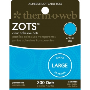 Therm O Web Zots™ Clear Adhesive Boxed Dots Large: Clear, Glue, Round, (model TW3783), price per box