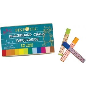 Finetec Blackboard Chalk 12-Color Set; Color: Multi; Format: Stick; (model ML415), price per set