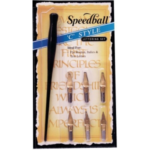 Speedball® C-Style Lettering Set; Pen Holder: Yes; Type: Calligraphy; (model H2957), price per set
