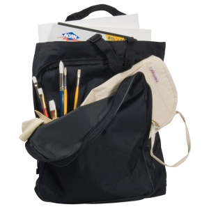 "Heritage Arts™ ArtMate™ Heavy-Duty Tote Bag; Color: Black/Gray; Material: Nylon; Size: 3 1/2""d x 14""w x 17""h; (model AM300), price per each"