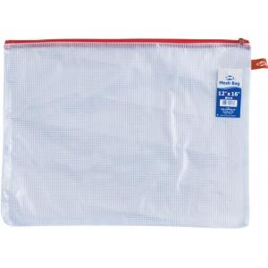 "Alvin® NB Original Series Mesh Bag 12"" x 16"": Assorted, Clear, Mesh, Vinyl, 12"" x 16"", (model NB1216), price per each"