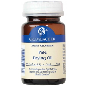 Grumbacher® Pale Drying Oil; Format: Bottle; Size: 2.5 oz; Type: Oil; (model GB554-2), price per each
