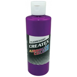 Createx™ Airbrush Paint 4oz Fluorescent Violet; Color: Purple; Format: Bottle; Size: 4 oz; Type: Airbrush; (model 5401-04), price per each
