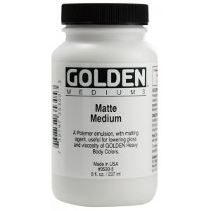 Golden® Matte Medium 8 oz.: Matte, 236 ml, 8 oz, (model 0003530-5), price per each