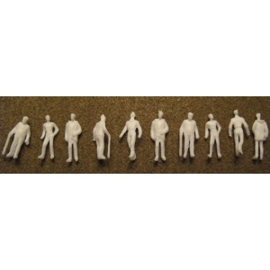 "Wee Scapes™ Architectural Model Human Figures Male 1/8"" 10-Pack; Color: White/Ivory; Quantity: 10-Pack; Size: 1/8""; Type: People; (model WS00375), price per 10-Pack"