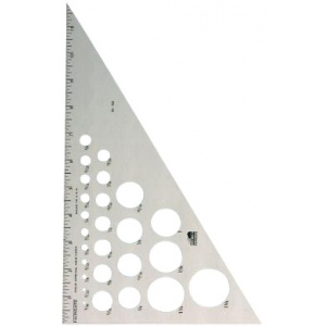"Fairgate® 14"" Aluminum Triangle 30/60; Angle: 30/60; Color: Clear; Material: Aluminum; Size: 14""; Type: Triangle; (model AT230-14), price per each"