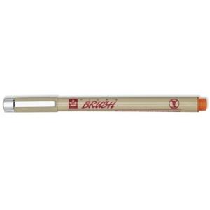 Pigma® Orange Brush Pen; Color: Orange; Ink Type: Pigment; Tip Type: Brush Nib; Type: Brush Pen; (model XSDK-BR-05), price per each